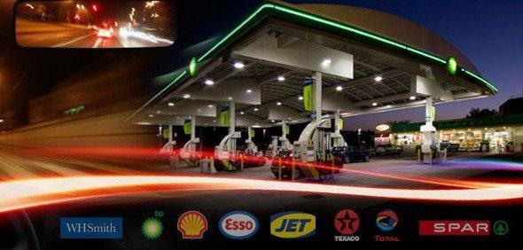 Von der Tanke zum Kia-Händler: Auf dem Gelände der Tankstellen wird die Kia-Kampagne starten (Foto: Amscreen)