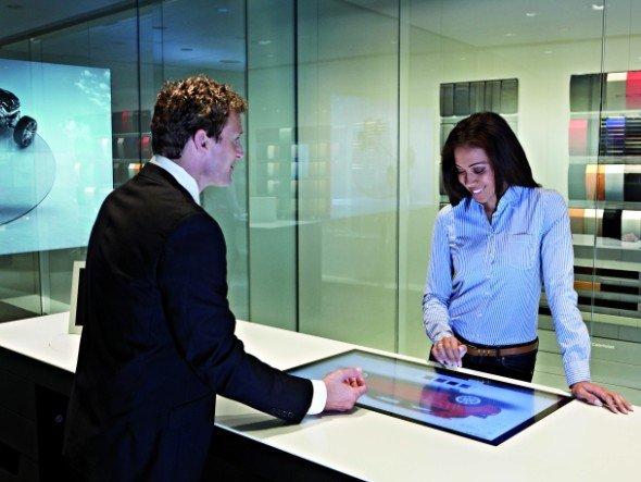 """Weniger """"Prosch-pekte"""", mehr Displays: Audi City soll als digital unterstützte Markenwelt funktionieren (Foto: Audi)"""