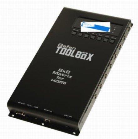 Gefen Toolbox GTB-HDFST-848: Signale von bis zu acht Quellen werden auf bis zu acht Displays ausgespielt (Foto: Gefen)