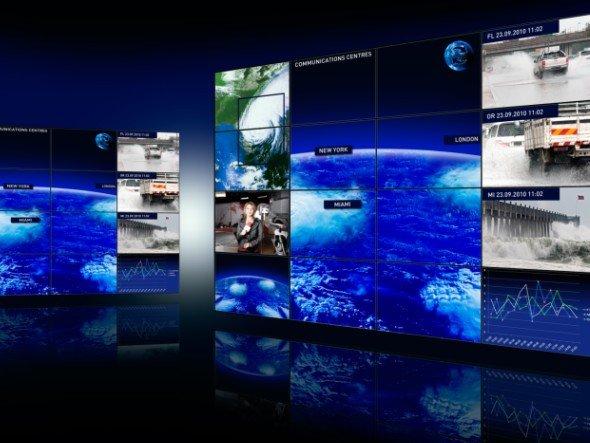 Software Hiperwall 2.0: genauere Angaben zu Position, Zoom, Farbe und Transparenz jedes angezeigten Objekts sind jetzt möglich (NEC)