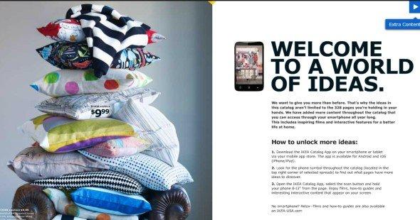 Der Ikea-Katalog 2013 setzt auf eine AR-Lösung von metaio (Screenshot: invidis.de)