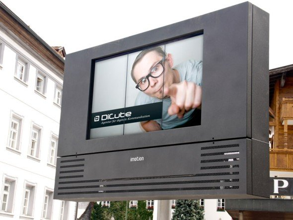 In Zillertal neuer digitaler Blickfang: das von DiCube Media installierte Billboard(Foto: Infinitus)