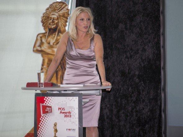POPAI DACH-Geschäftsführerin Karin Wunderlich bei der POPAI Dach 2012 Gala
