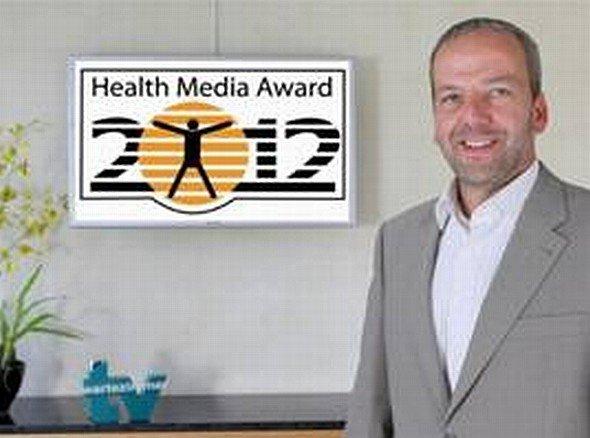 TV-Wartezimmer-Geschäftsführer Markus Spamer bei der Preisverleihung (TV-Wartezimmer)