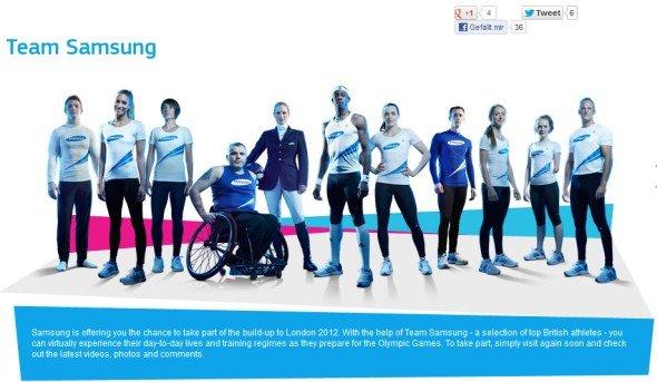 David Beckham ist nicht im Bild: das ansonsten zwölfköpfige Team Samsung (Foto: Samsung)