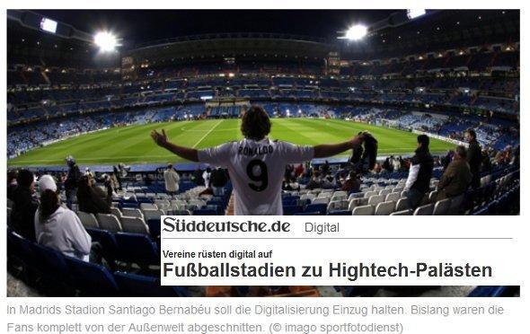 Lesenswert: Süddeutsche über digitale Stadien