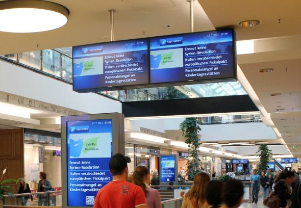 Ströer OC Mall mit Tagesschau Content (Foto. Ströer)