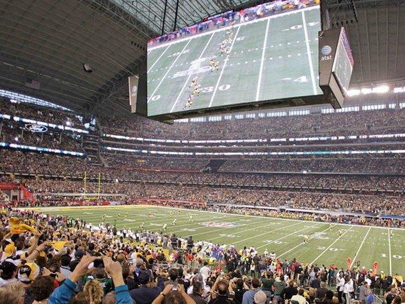 """Entspricht 4.920 TVs mit je 52"""" Diagonale: das aktuell größte Display im Stadion der Dallas Cowboys (Foto: Cowboys Stadium)"""