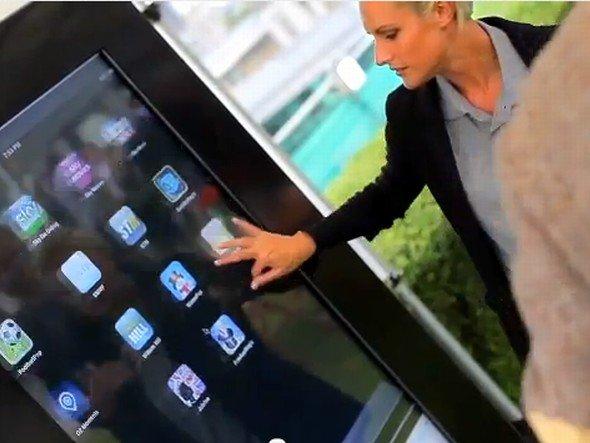 """Einsatz für """"Internet Retailing"""" -Giant iTab bei der Geburtstagssause (Video: Internet Retailing - Screenshot: invidis.de)"""