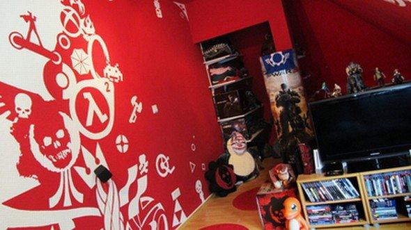 LG Cribs Battle 2012: Maiks Gamer-Butze besticht durch kreativen Anstrich (Foto: LG)