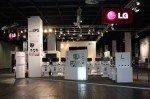 Vor dem Ansturm: LG-Messestand auf der Gamescom (Foto: LG)