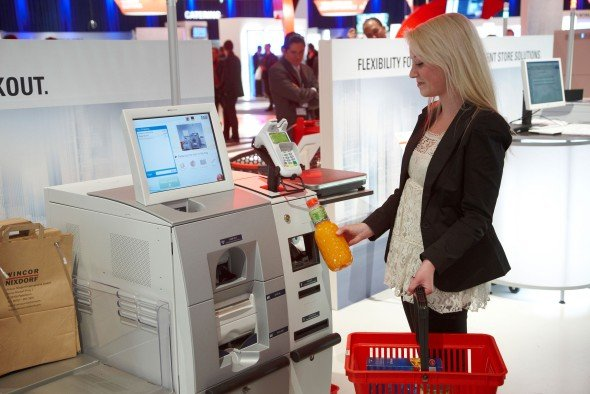 Kooperation mit ScanSource Europe: Mobile Checkout-LösungTowerline 150 (Foto: Wincor Nixdorf)