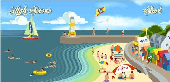 Gegen Stress und Langeweile gedacht: Onlinespiel von Tech Data (Screenshot: invidis.de)