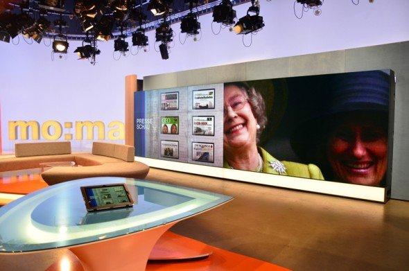 Über 60.000 Stunden Lebensdauer der LEDs: ZDF-Studio in Berlin mit installierten DLP-Cubes (Foto: eyevis)