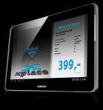 Bisher in 300 Geschäften im Einsatz: Samsung-Tablet mit laufender TaCT-Applikation (Foto: xplace)