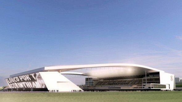 Im Jahr 2014 soll die Arena Corinthians stehen - samt Mega-LEC-Panel (Grafik: Osram)