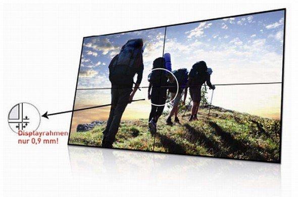 Mit 0,9 Millimetern weltweit schmalster Displayrand - ICTs neuer 60-Zöller (Foto: ICT)