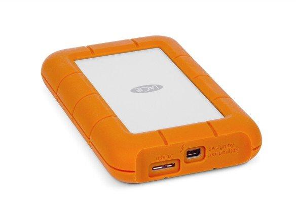 Rückseite mit Anschlüssen: LaCies Rugged USB 3.0 Thunderbolt Serie (Foto: LaCie)