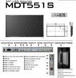 Zumindest ein naher Verwandter - das US-Display MDT551S (Screenshot: invidis.de)