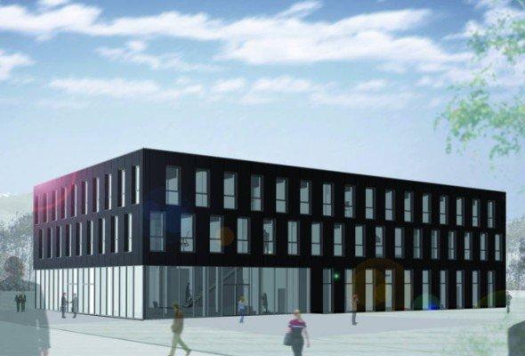 Geplanter Neubau der DIAL-Firmenzentrale (Grafik: Dial)