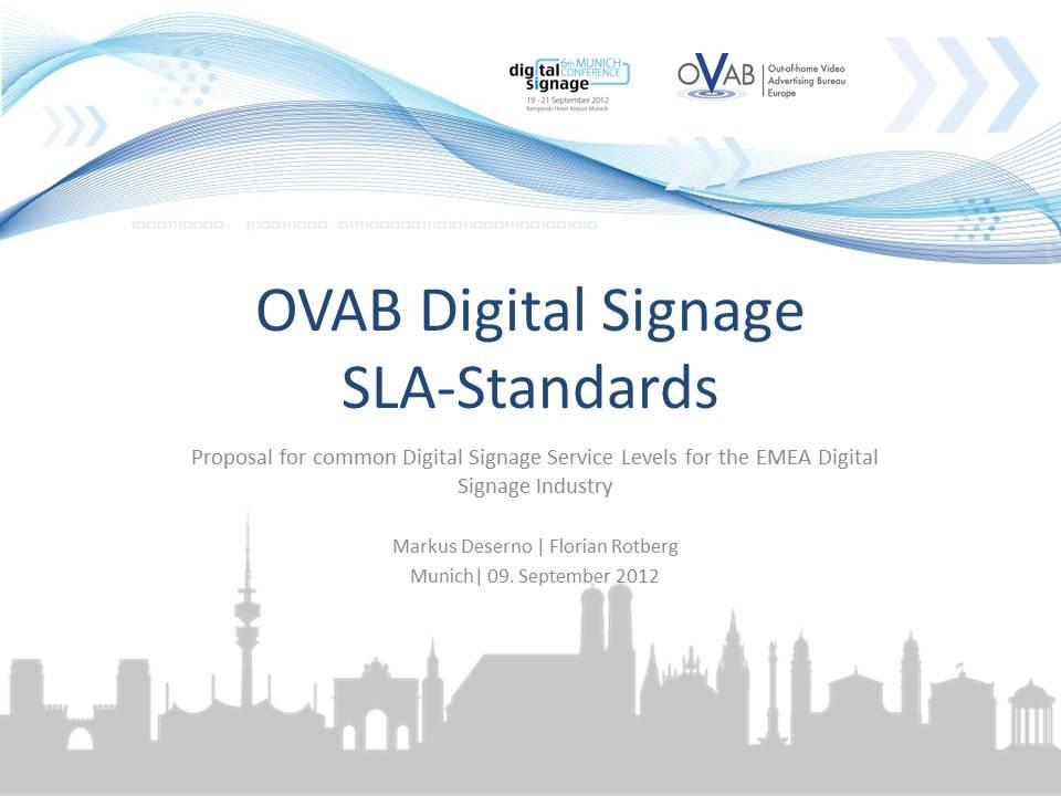 OVAB Eurpe SLA Standards Workshop
