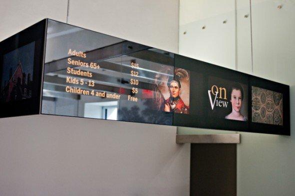 Dem Museum wurden neue Displays samt Software spendiert (Foto YCD)