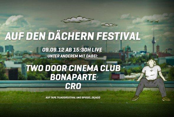 """Wall AG bringt Schallwellen in die DooH-Erbung ein - tape.tv-Microsite zum """"Auf den Dächern""""-Festival (Screenshot: invidis.de)"""