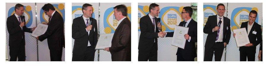 Die Gewinner des invidis Digital Signage Awards 2012. Mehr Bilder finden sie in der Galerie (durch anklicken des Bildes)