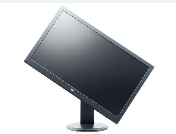 AOC m2752Pqu - mittels der Pivot-Funktion kann das Display innerhalb von Sekunden um 90° vom Quer- ins Hochformat gedreht werden (Foto: AOC)