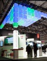 Adobe - 120 Quadratmeter großer Messestand (FOTO: LK AG/ STANDEX GMBH WUPPERTAL)
