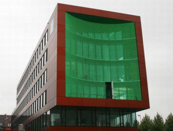 Seit 2008 ist die Medienfassade in Münster im Betrieb (Foto: PSD Bank Westfalen-Lippe/ ag4)