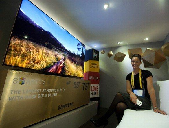 Große Smart-TVs waren im dritten Quartal gefragt - Samsung ES9000 LED Smart TV (Foto: Samsung Korea)