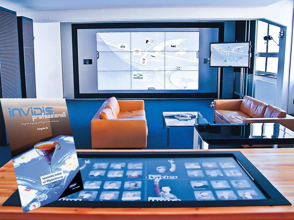 Showroom der ICT mit dem Samsung SUR40