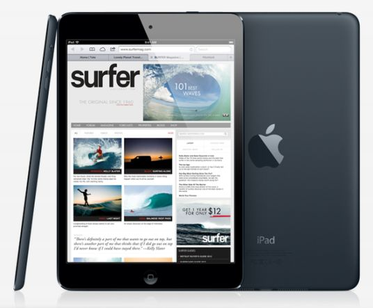 Das iPad Mini ist mit 7,2 mm um 23% dünner als das iPad (Foto: Apple)