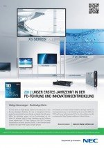 invidis Jahrbuch Digital Signage Anzeige NEC