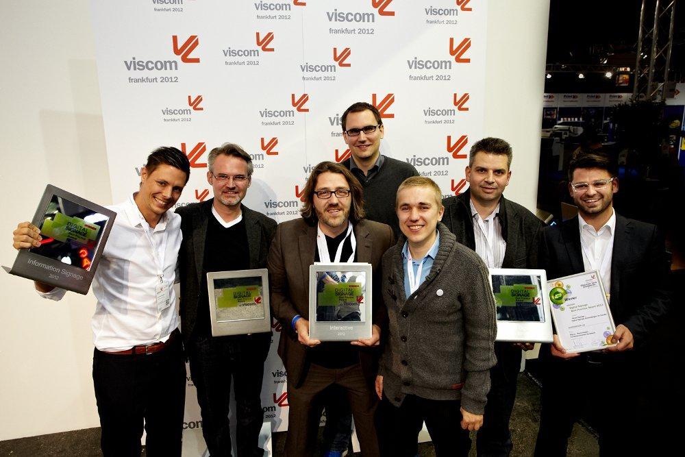 Viscom Frankfurt Digital Signage Award Gewinner 2012
