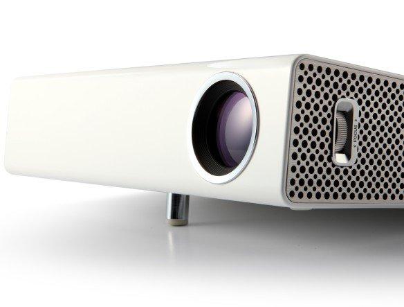 Klein wie ein Buch, schnell einsatzbereit: neuer LG-Projektor (Foto: LG)