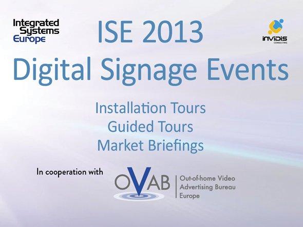 ISE 2013 invidis Digital Signage Events