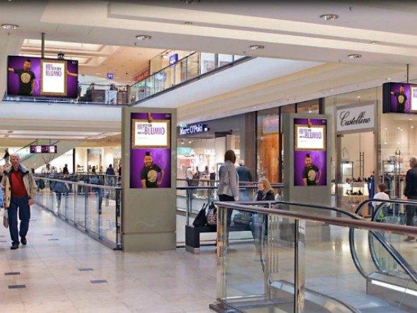 Yahoo!-Werbung im Einkaufszentrum