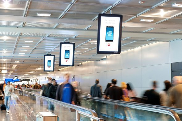 Media Frankfurt DooH Netz im Terminal A Plus