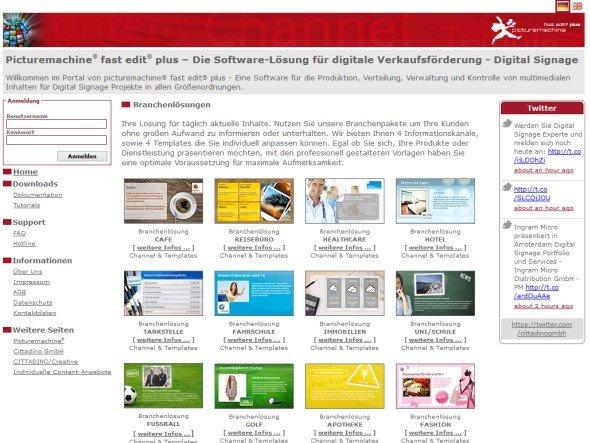 Mit den Picturemachine-Paketen können jetzt auch 1500 Mitglieder des Bürorings von den Vorteilen von DS überzeugen lassen (Screenshot: Cittadino)