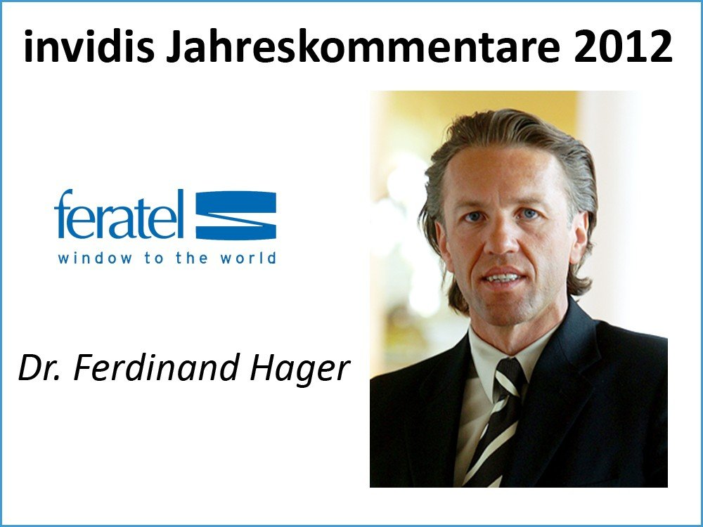 Dr. Ferdinand Hager, Vorstand, feratel media technologies AG