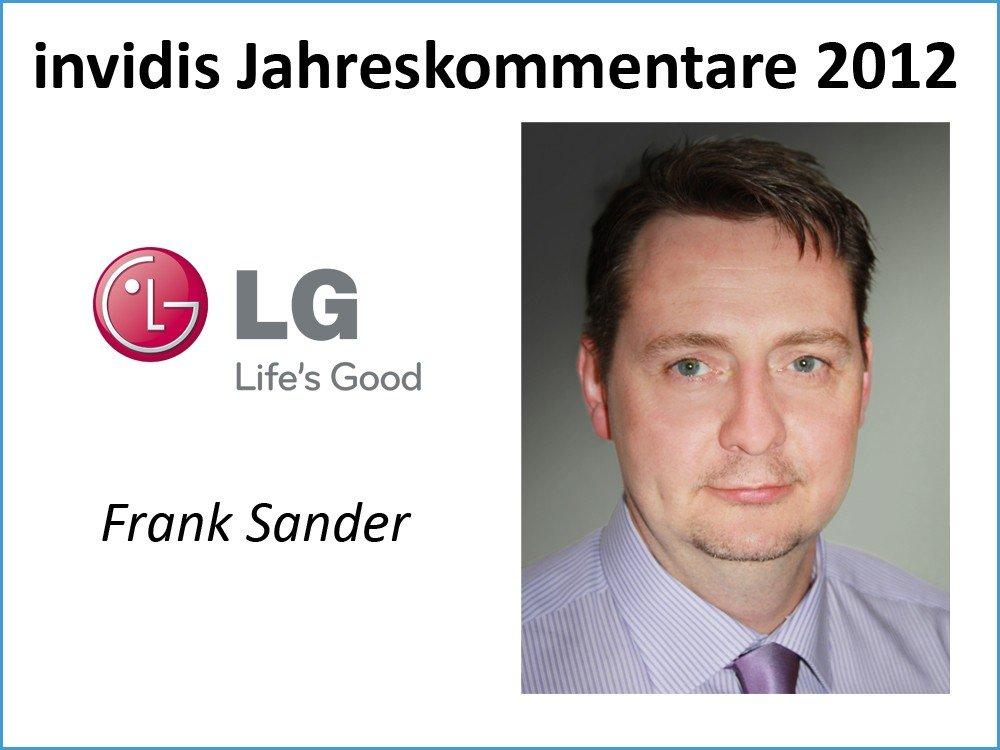 Frank Sander, Head of Marketing ISP, LG Electronics Deutschland