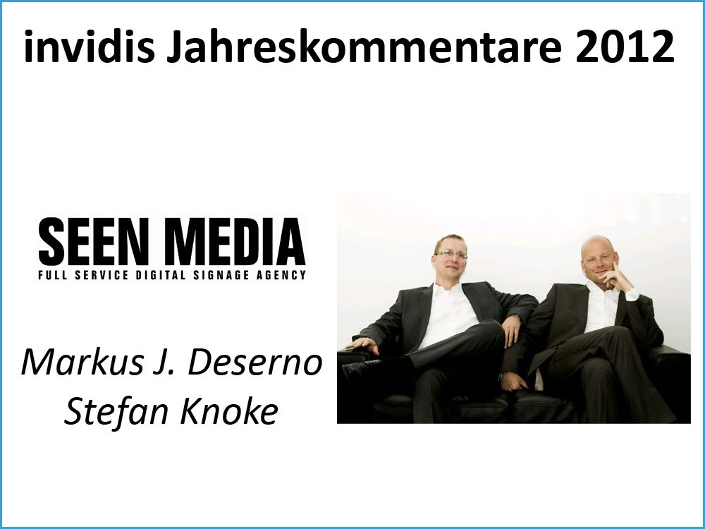 Stefan Knoke / Markus J. Deserno, Seen Media