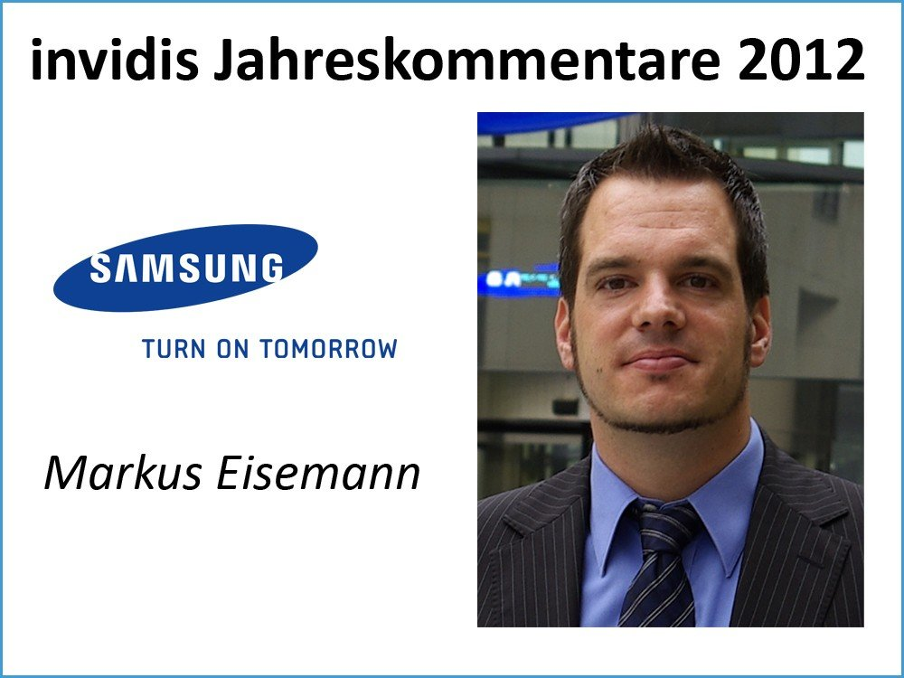 Markus Eisemann, Sales Manager Large Format Plasma & LCD Monitore / Professional AV Display Department, Samsung Electronics GmbH