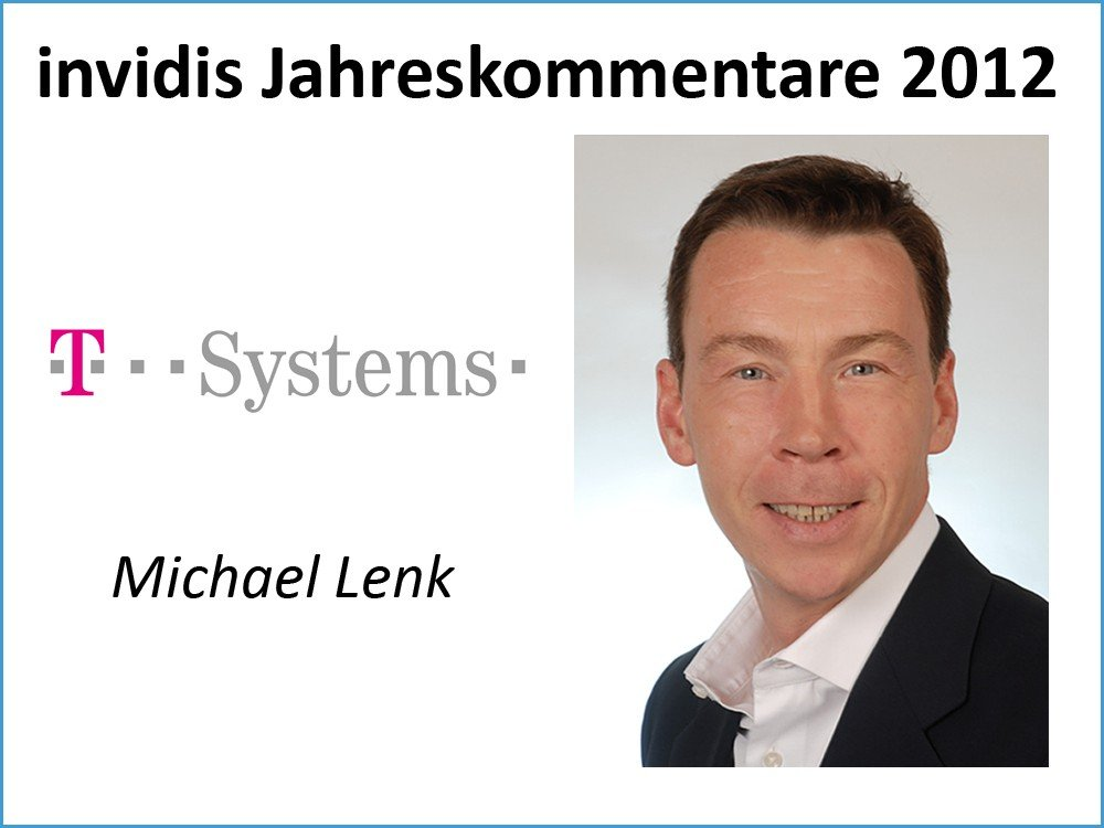 Michael Lenk, Head of Competence Center Retail, T-Systems International GmbH
