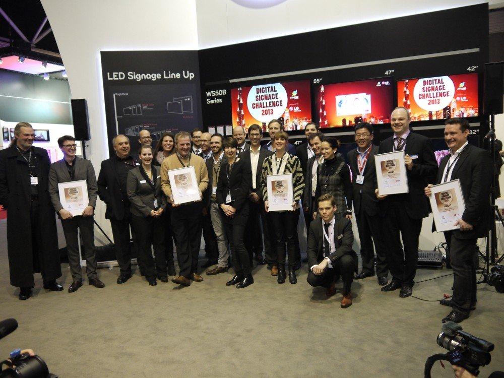 Die Finalisten invidis / LG Digital Signage Challenge
