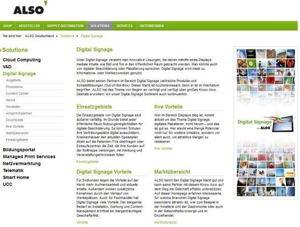 ALSO Actebis im Digital Signage Anbieterverzeichnis