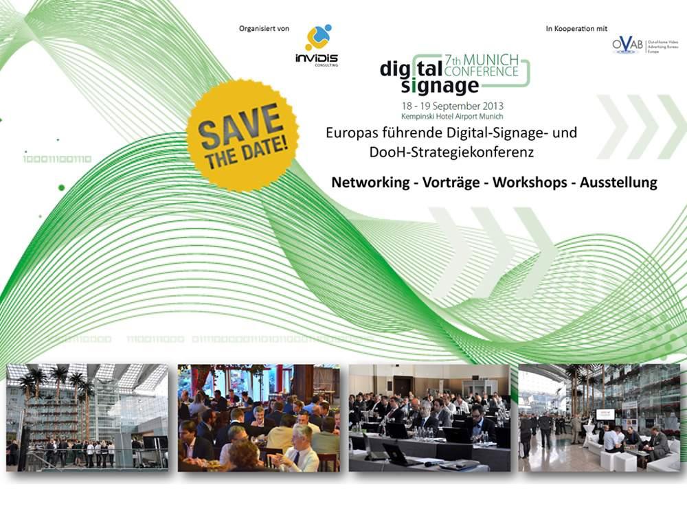 Bereits zum siebten Mal: Digital Signage Confernce Munich