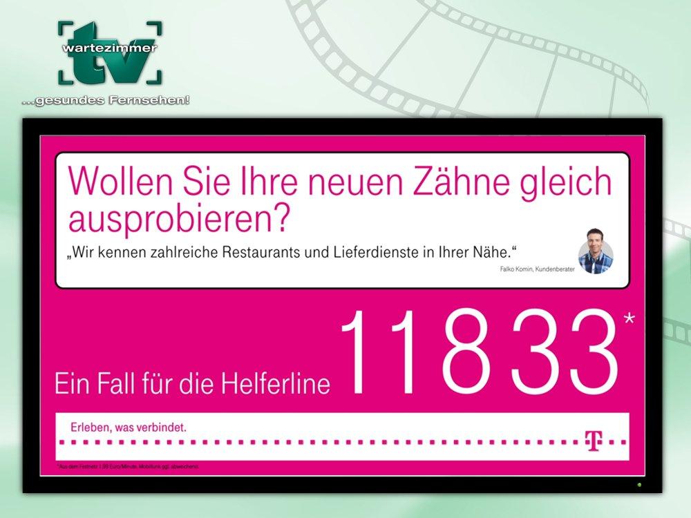 Deutsche Telekom nutzt DooH-Netzwerk von TV Wartezimmer